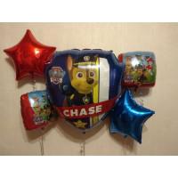 Букет из фольгированных шаров Щенячий патруль со звёздами - дополнительное фото #1