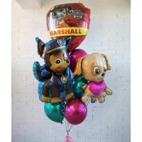 Букет шаров Чейз, Маршалл, Скай и шары хром