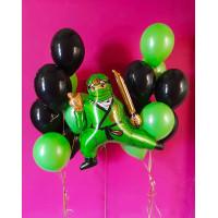Сет шаров с зеленым Ниндзяго