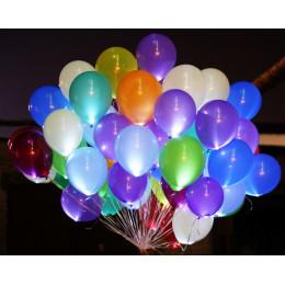 Воздушные шары светящиеся, разноцветные