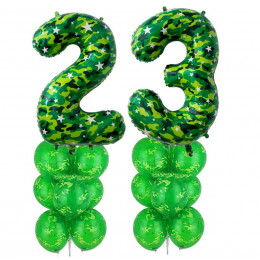 Набор фонтанов из шаров на 23 февраля
