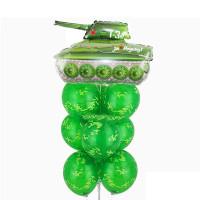 Фонтан из шаров камуфляж с танком