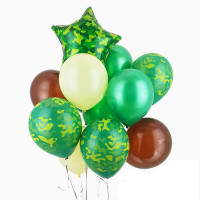 Композиция из шаров на 23 февраля Камуфляж