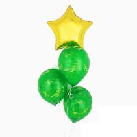 Мини-фонтан из шаров камуфляж с золотой звездой