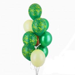 Фонтан из шаров на 23 февраля из 10 шаров