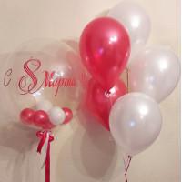 Сет шаров на 8 марта с вашей надписью