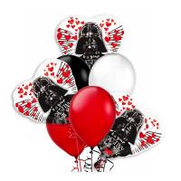 Букет воздушных шаров сердца с Дартом Вейдером