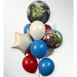 Букет шаров с гелием Мстители со звездой