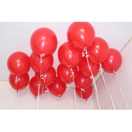 Воздушные латексные шары Красные - дополнительное фото #1