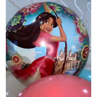 Композиция из гелиевых шаров с принцессой Авалора Еленой - дополнительное фото #1
