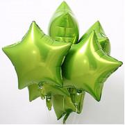 Шар-звезда Салатовая (45 см) - дополнительное фото #1