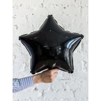 Шар-звезда Черная (45 см) - дополнительное фото #1