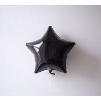 Шар-звезда Черная (45 см) - дополнительное фото #2