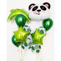 Композиция из шаров Панда с пальмой