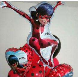 Фигурный шар Леди Баг - дополнительное фото #1