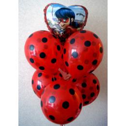 Шар-сердце Леди Баг - дополнительное фото #2