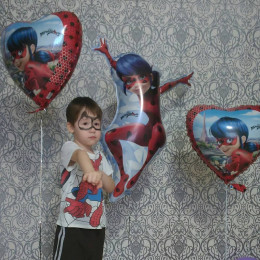 Шар-сердце Леди Баг - дополнительное фото #3