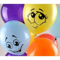 Воздушные шары Улыбки разноцветные - дополнительное фото #2