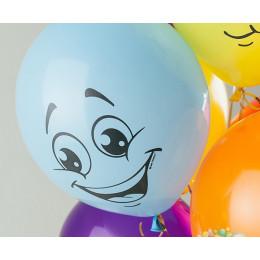Воздушные шары Улыбки разноцветные - дополнительное фото #3
