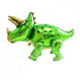 Ходячий шар Динозавр Трицератопс, зеленый