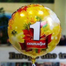 Шар-круг 1 сентября с кленовыми листочками - дополнительное фото #1
