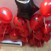 Шары красные в черный горох - дополнительное фото #4
