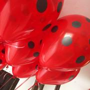 Шары красные в черный горох - дополнительное фото #2