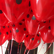Шары красные в черный горох - дополнительное фото #3