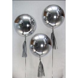 Шарик-сфера Серебряный, металлик - дополнительное фото #1