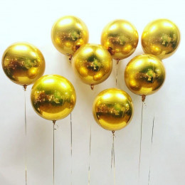 Шарик-сфера Золотая - дополнительное фото #2