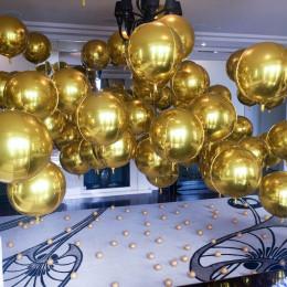 Шарик-сфера Золотая, 51 см - дополнительное фото #2