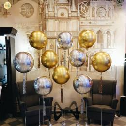 Шарик-сфера Золотая, 51 см - дополнительное фото #1