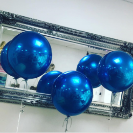 Шарик-сфера Синий, металлик - дополнительное фото #1
