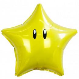 Шар-звезда с глазками, желтая