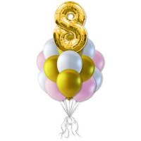 Букет шариков на день рождения Нежный возраст