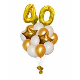 Букет шариков Золотой возраст