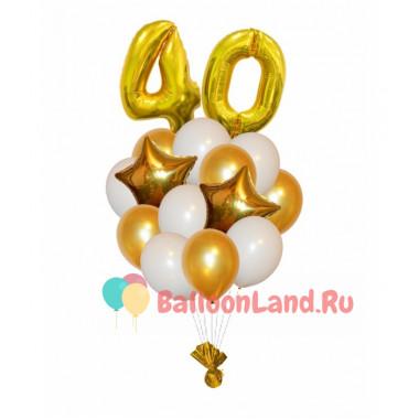 Букет шариков на день рождения Золотой возраст
