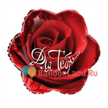 Фигурный шар 'Для тебя', роза