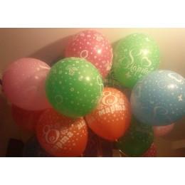 Воздушные шары с надписью 8 марта - дополнительное фото #1