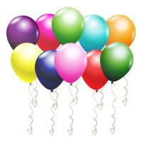 Воздушные шары Металлик Разноцветные