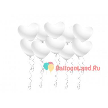 Воздушные шары Белые сердца