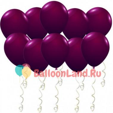 Воздушные шары Бургундия металлик