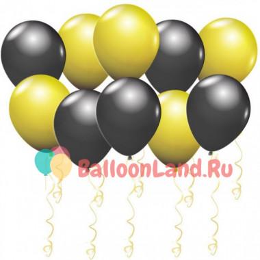 Воздушные шары Черные и золотые