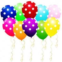 Воздушные шары в белый горошек - дополнительное фото #1