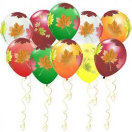 Воздушные шары Осенние листья - дополнительное фото #3