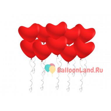 Воздушные шары Красные сердца