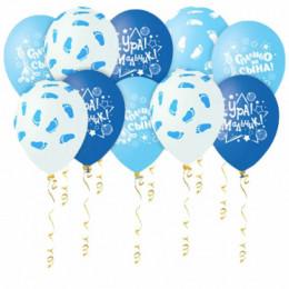 Воздушные шары Шары голубые с гелием