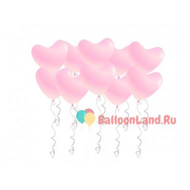 Воздушные шары Розовые сердца