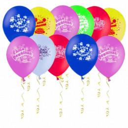 Воздушные шары С днем рождения, простые