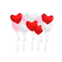 Воздушные шары Сердца, ассорти